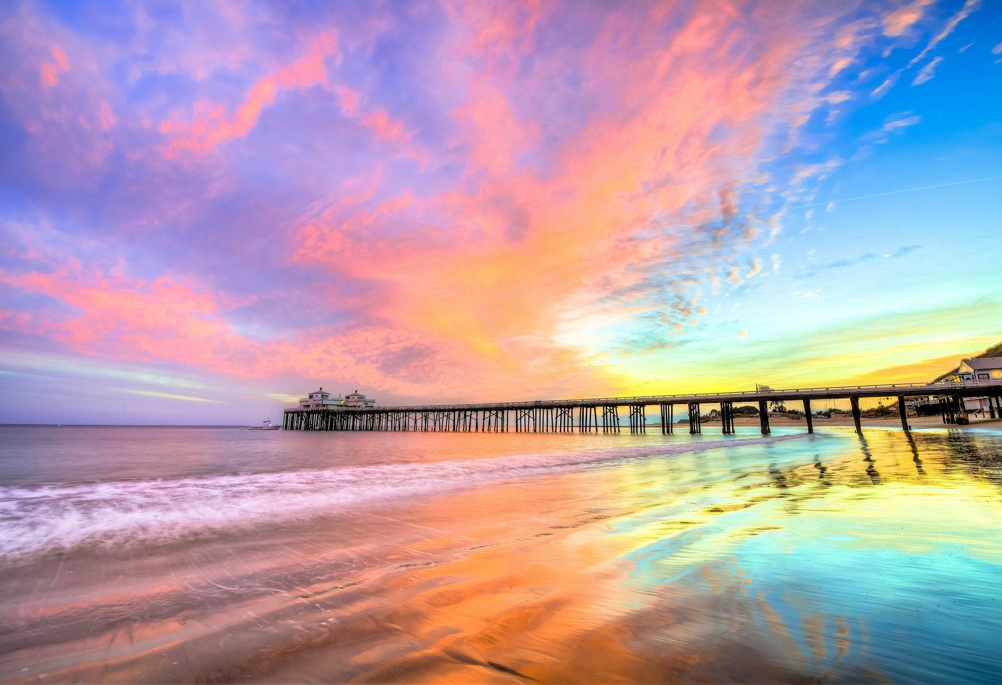 40 Hollywood Beach Sunset Wallpapers   Download at WallpaperBro 2048x1401