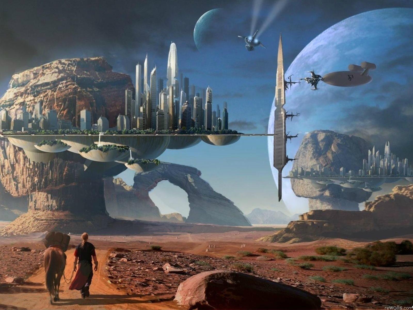 Sci Fi Landscape Wallp... Ocean Computer Wallpaper