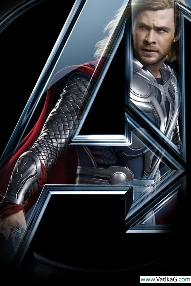 Download Thor In The Avengers Iphone Wallpapers For Mobile Phone 640x960