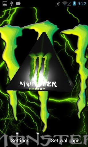 energy drink brand logo to your phone monster energy 3d live wallpaper 307x512
