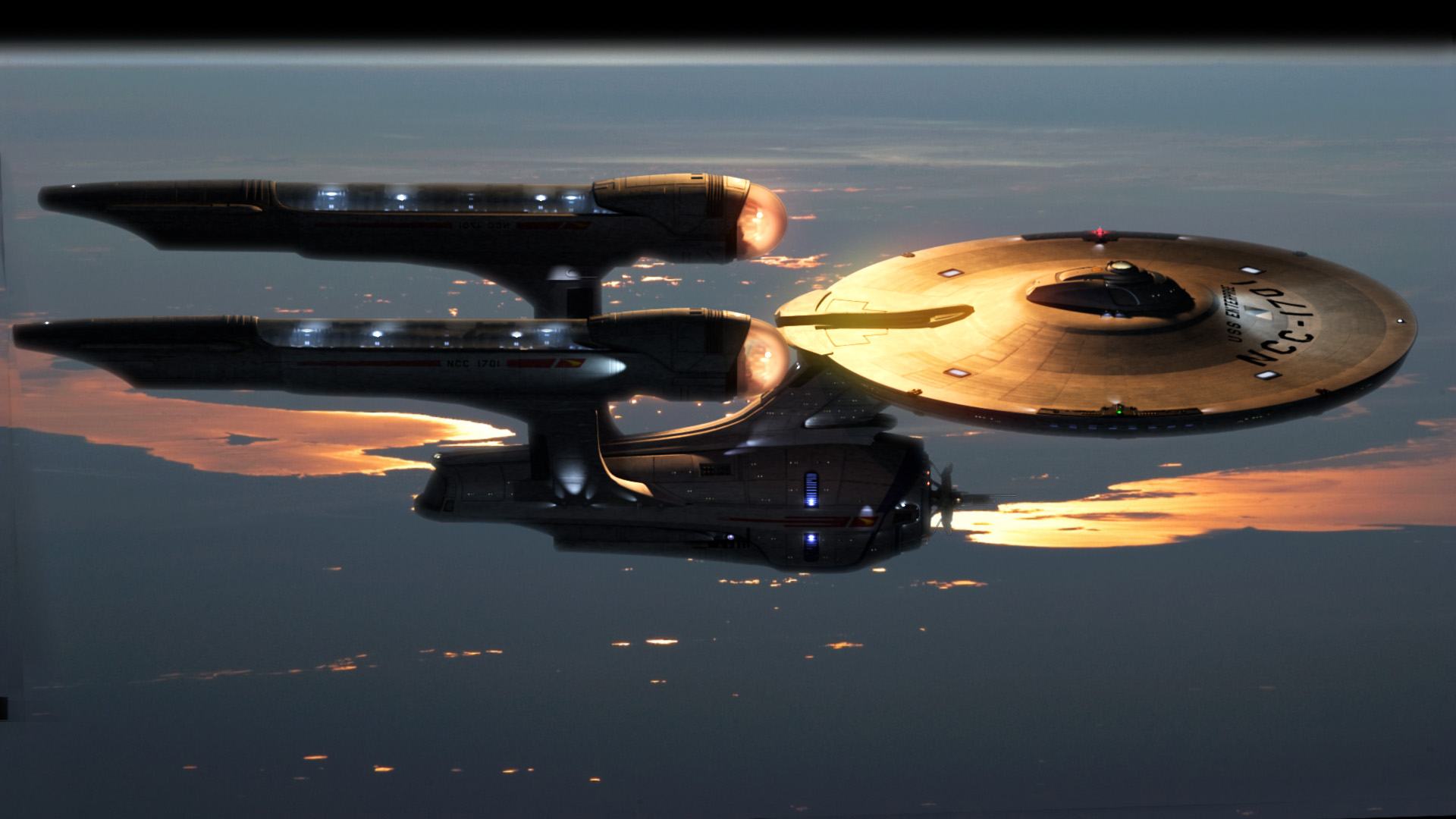 hd wallpaper enterprise star trek wallpapers55com   Best Wallpapers 1920x1080