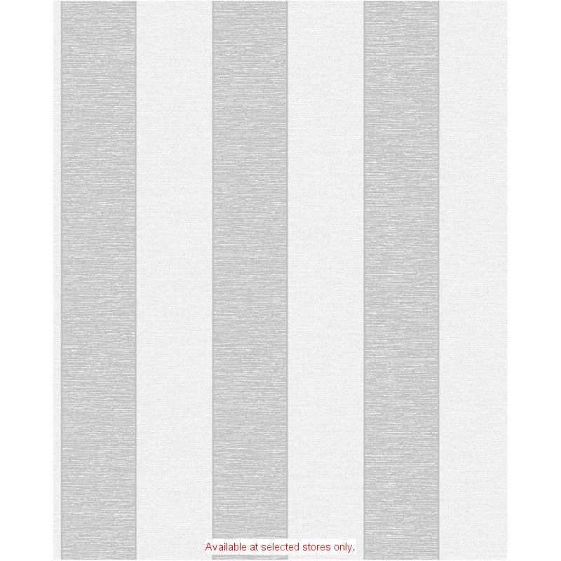 DIY Wallpaper Striped Fine Decor Torino White Silver Stripe Wallpaper 800x800