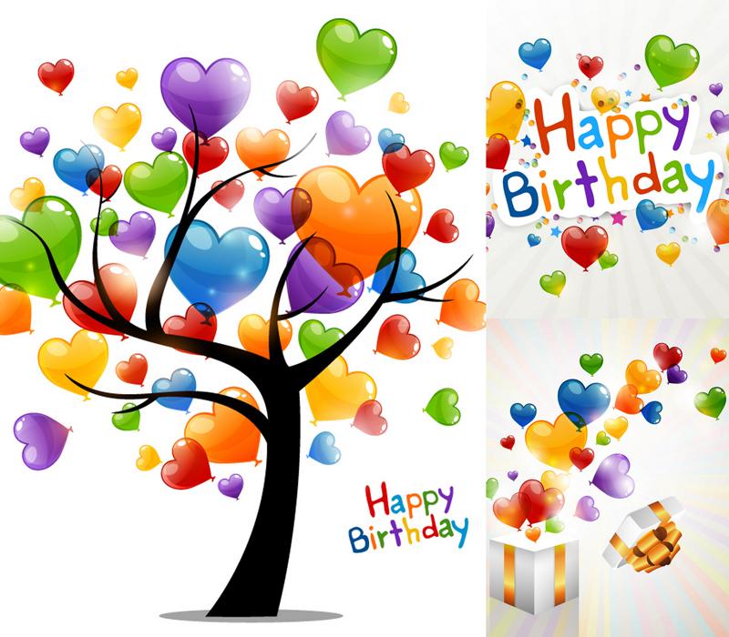 balloons birthday background vector material loveballoonsbirthday 800x700