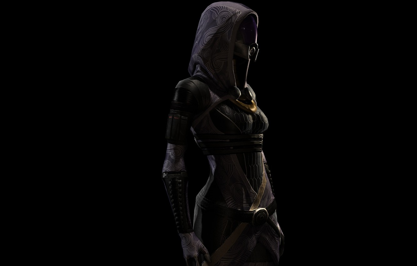 Wallpaper black mass effect Drill vas Normandy tali Quarian 1332x850