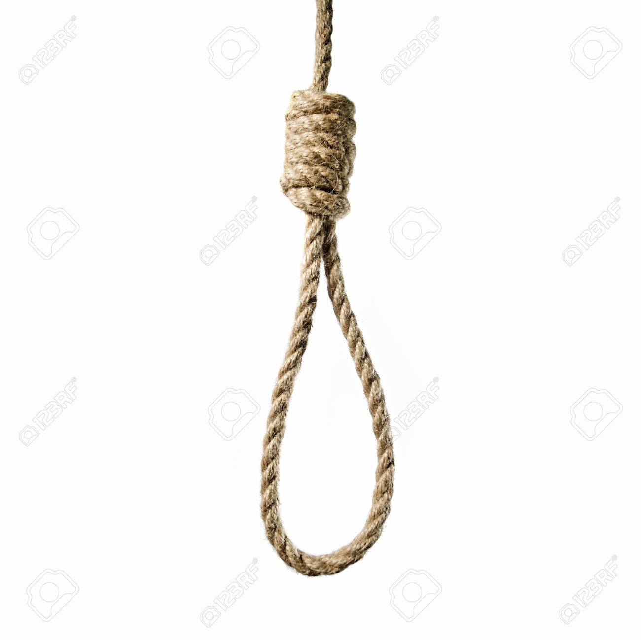 Mage Hanging Rope To Lynchs Loop On A White Background Stock 1300x1299