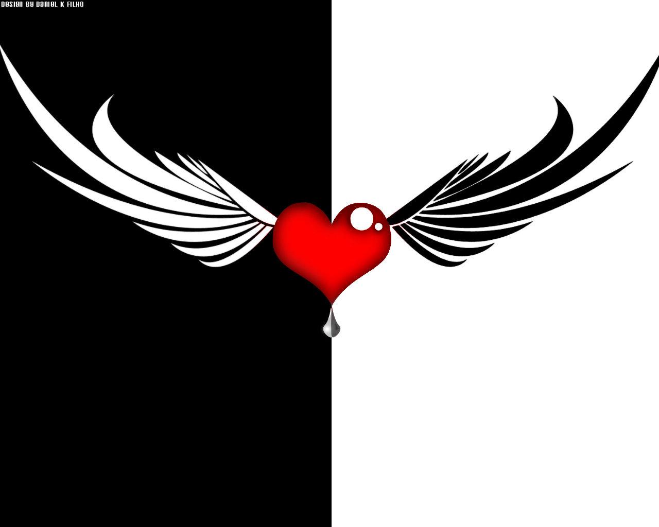 Heart Wings by MrPhoenixBR 1280x1024
