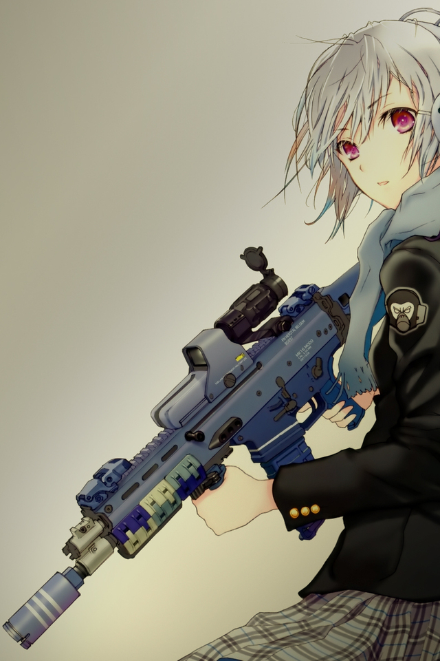 Free Download Anime Gun Girl Wallpaper For Apple Iphone 4 Pictures
