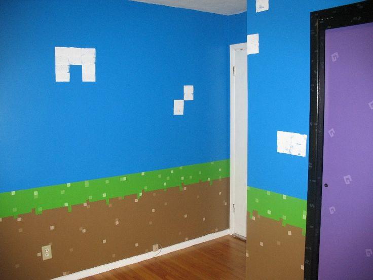 Minecraft inspired bedroom   Imgur Minecraft Event Pinterest 736x552