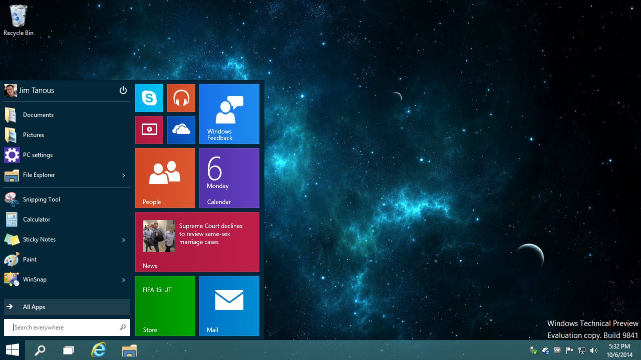 How to Switch from the Start Menu to the Start Screen in Windows 10 1280x720