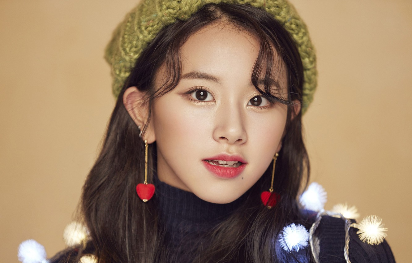 Wallpaper Girl Music Kpop Chaeyoung Twice Merry and Happy 1332x850