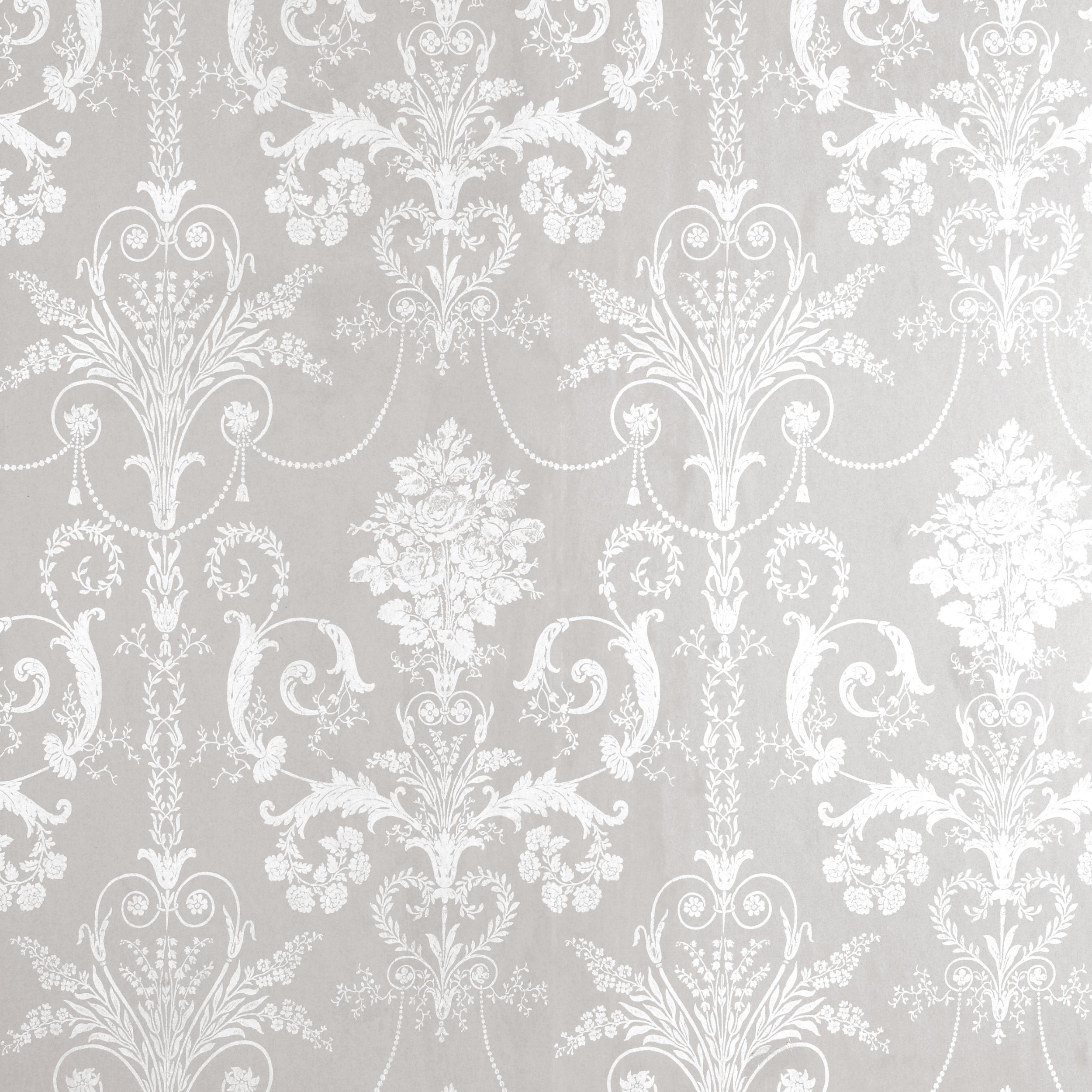 Home Decorating Wallpaper Josette WhiteDove Grey Damask Wallpaper 2500x2500