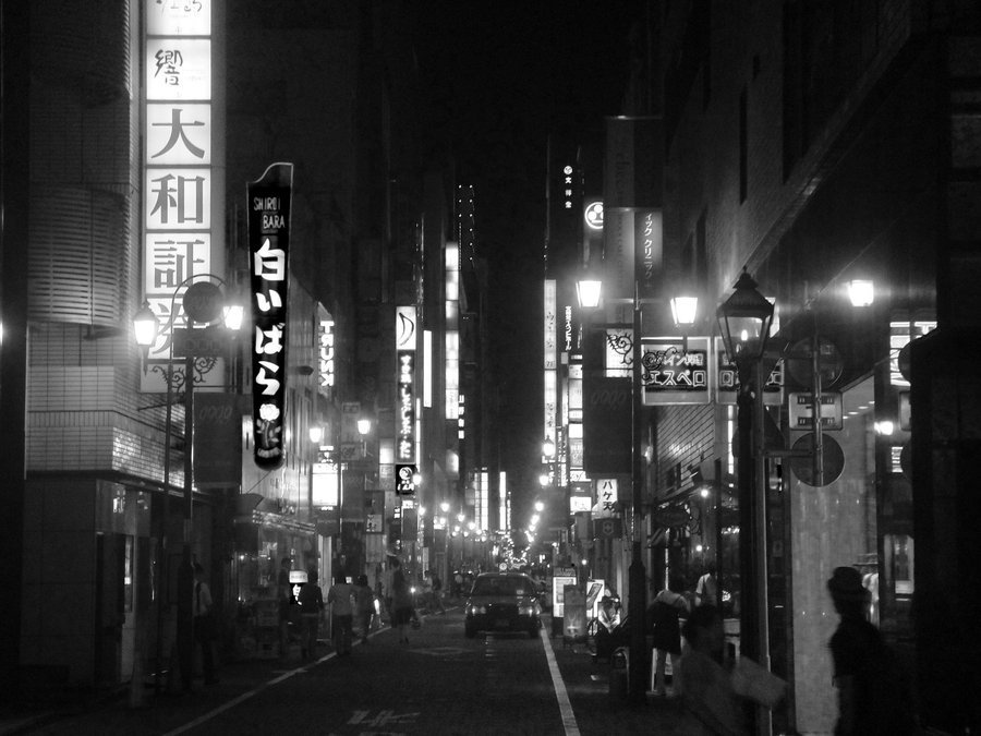 Film Noir Wallpaper Film noir in tokyo by artyjock 900x675