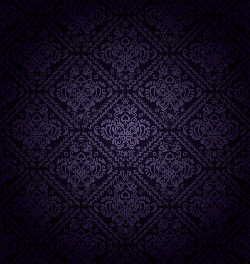 Dark Purple Pattern Vector 1024x1081