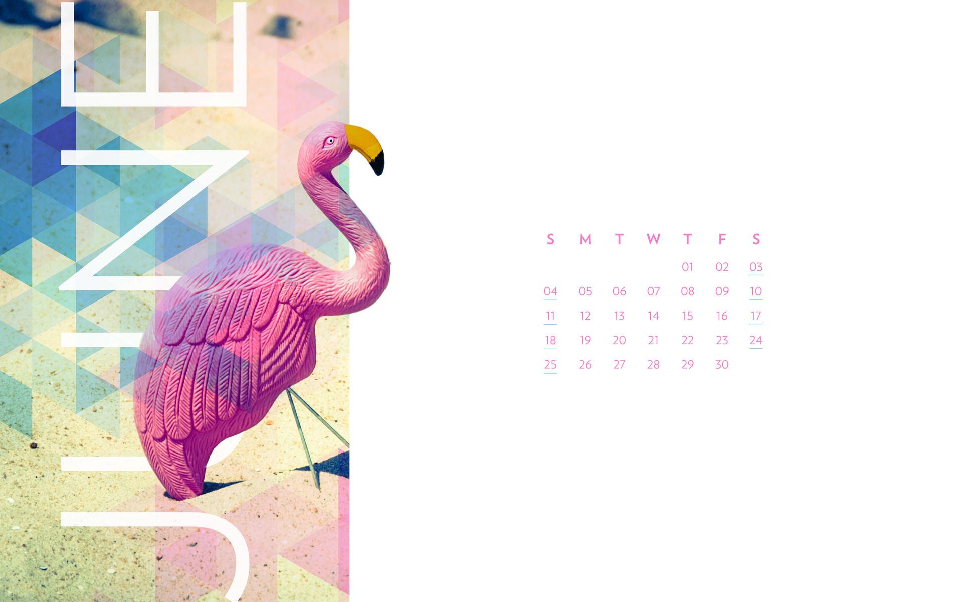 June 2017 Desktop Calendar Wallpaper Paper Leaf 1921x1200