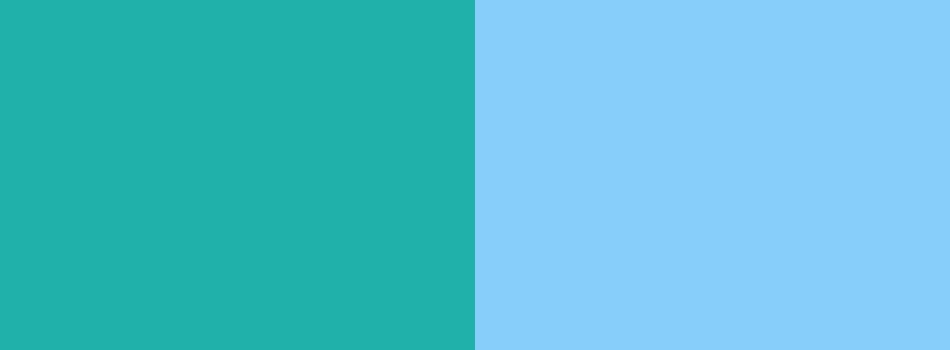 Light Sea Green and Light Sky Blue Two Color Background 950x350