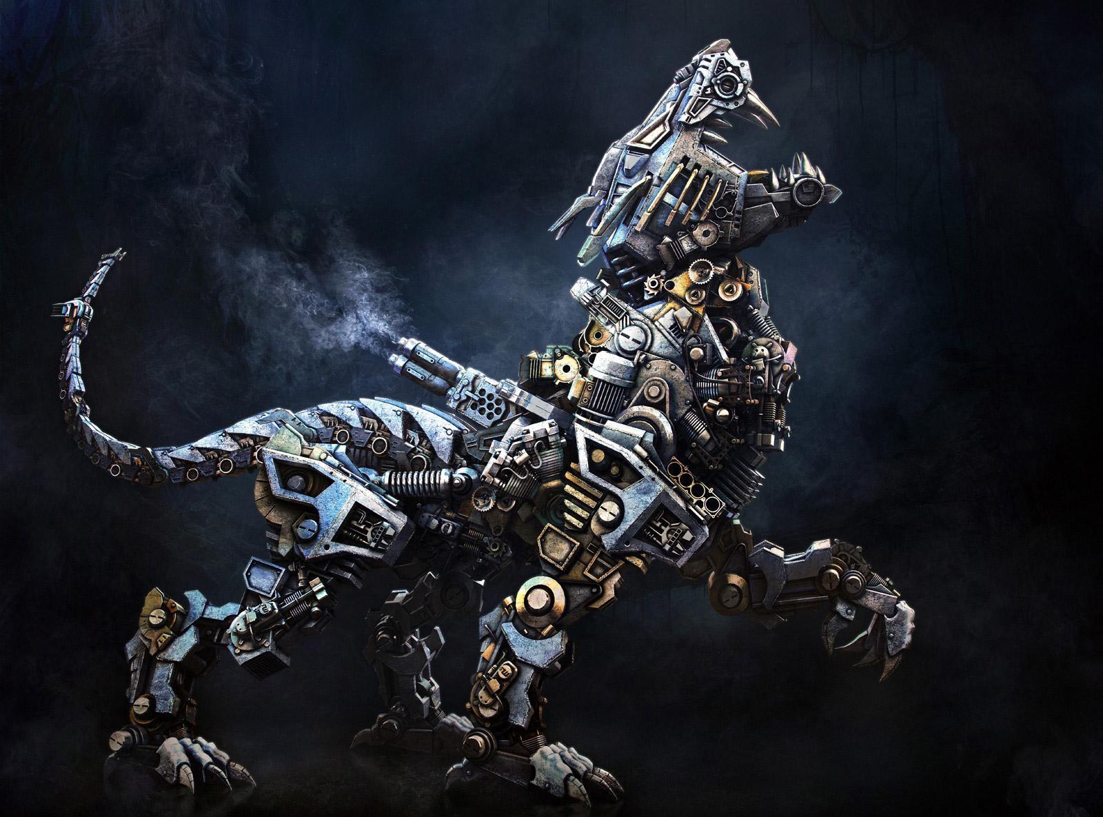 3D Art Mech Lion   3D Maya Photoshop Sci fiCoolvibe Digital 1600x1185
