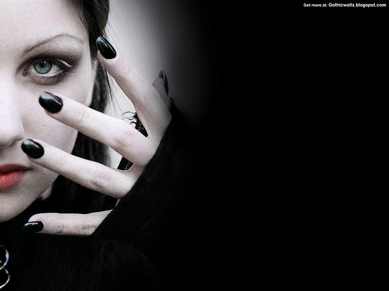 Black gothic girl   Scary wallpaper Scary Wallpapers 800x600