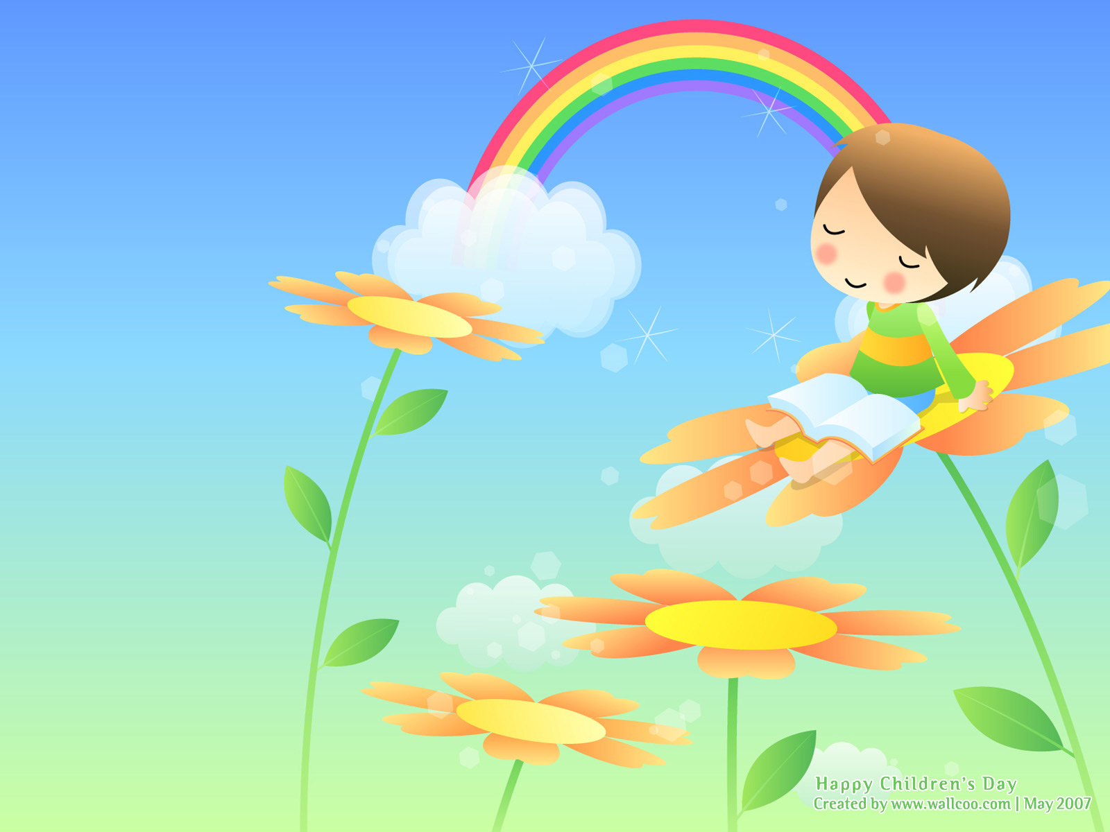 Colourful Illustrations for Childrens Day 16001200 NO21 Wallpaper 1600x1200