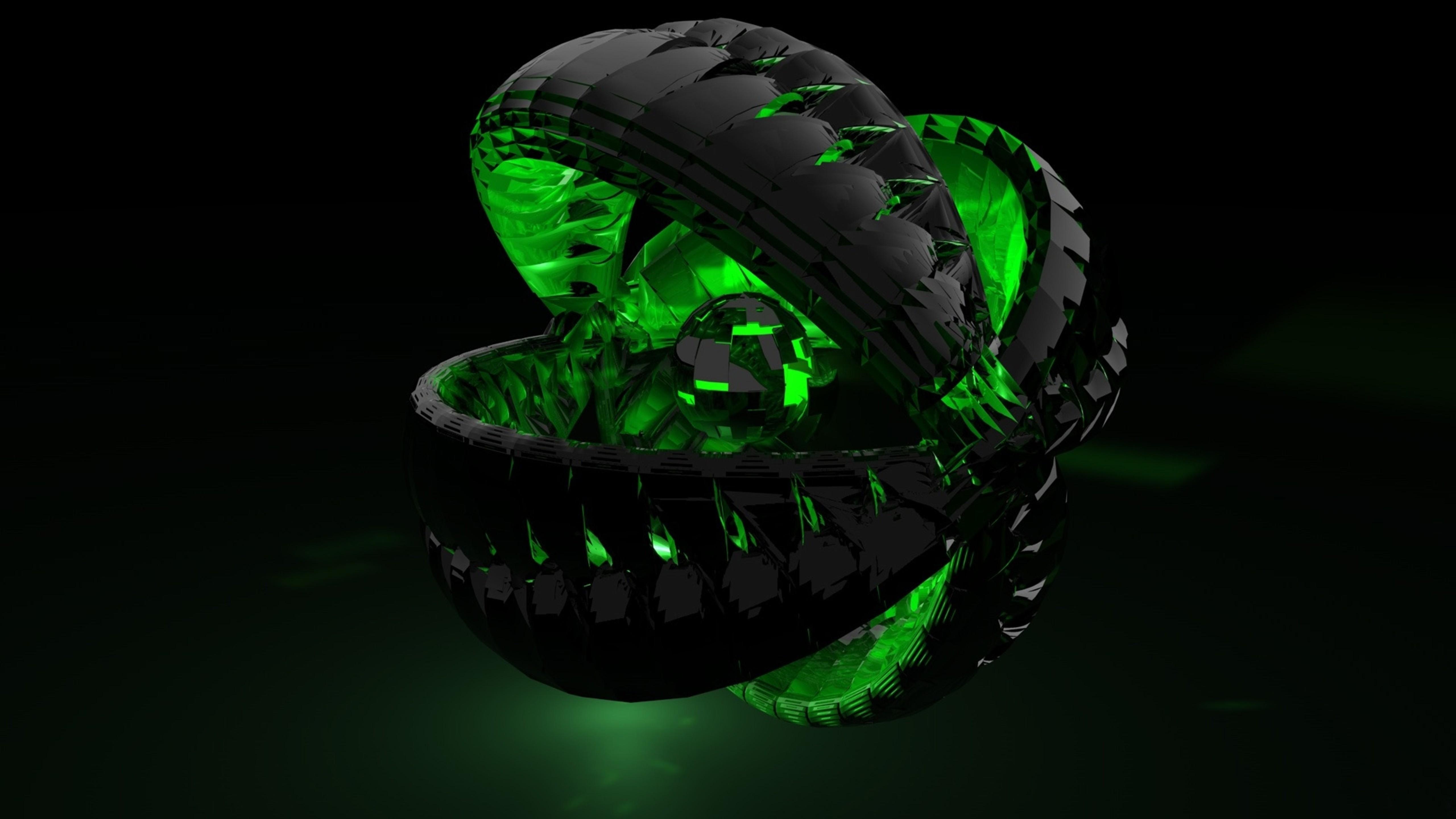 Картинка форма, зелёный, тень, тёмный 1600x900 скачать обои .