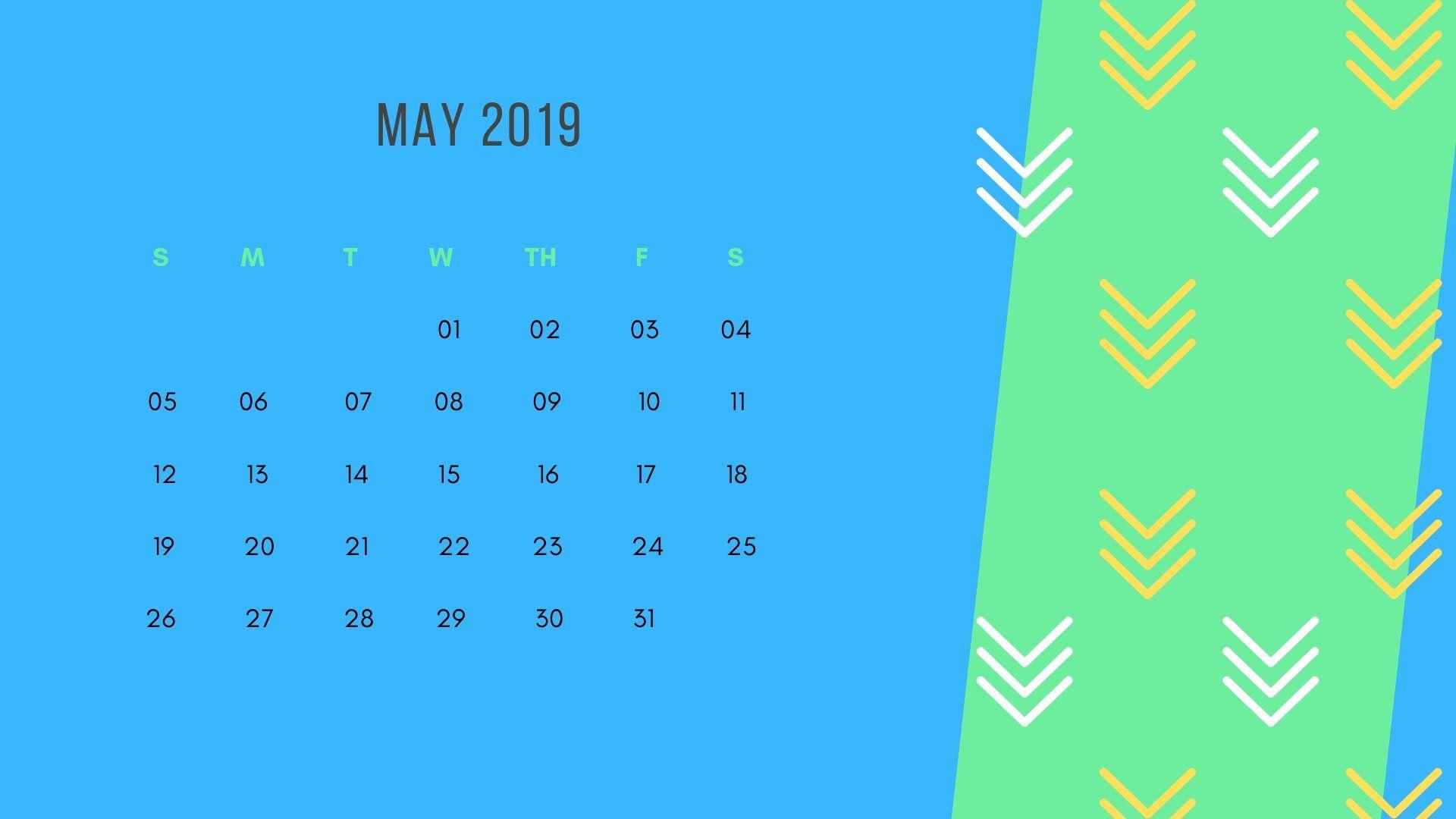 may 2019 calendar wallpaper 2019 Calendars in 2019 2019 1920x1080