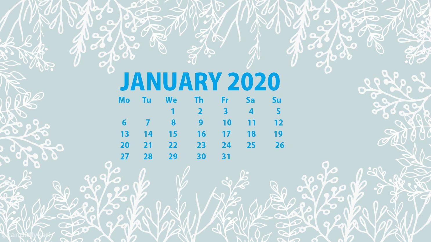 January 2020 Calendar Wallpapers   Top January 2020 Calendar 1485x835