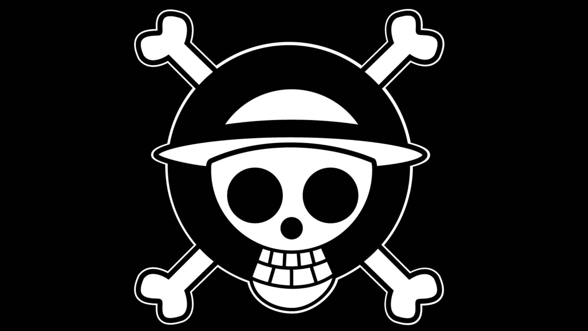 One Piece Logo Black And White HD Wallpapers and Photos 1920x1080