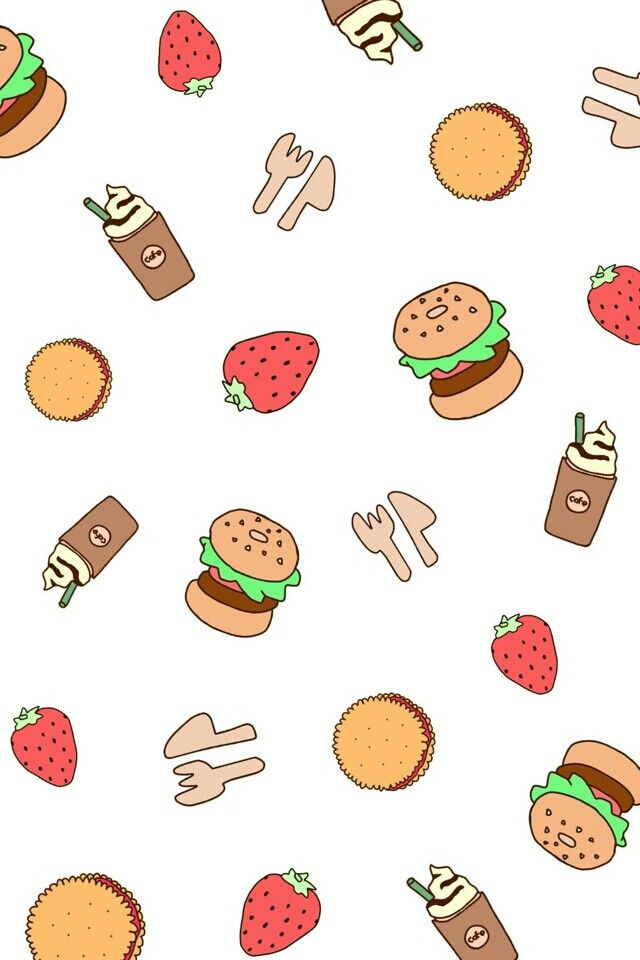 Food wallpaper Ilustrasi lucu Gambar hewan lucu Gambar hewan 640x960