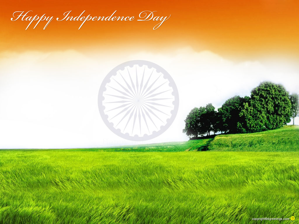 Happy independence day wishes on hd scenery wallpapers 1024x768