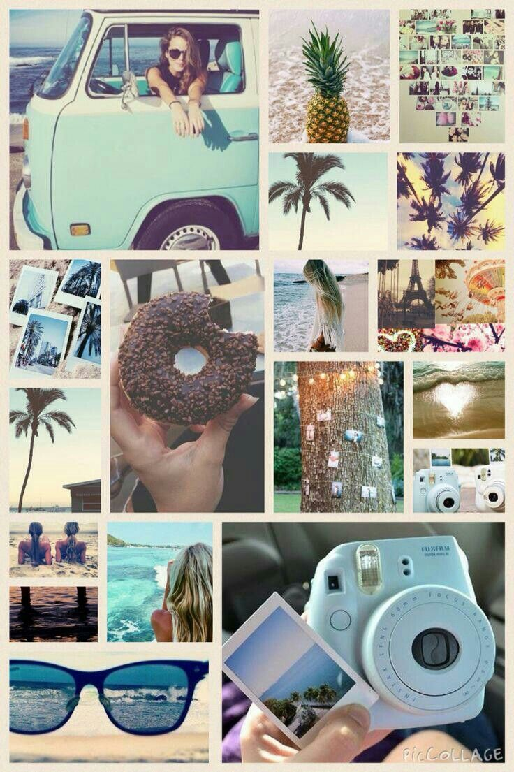 Summer Aesthetic collage Aesthetic collage Collage background 736x1105