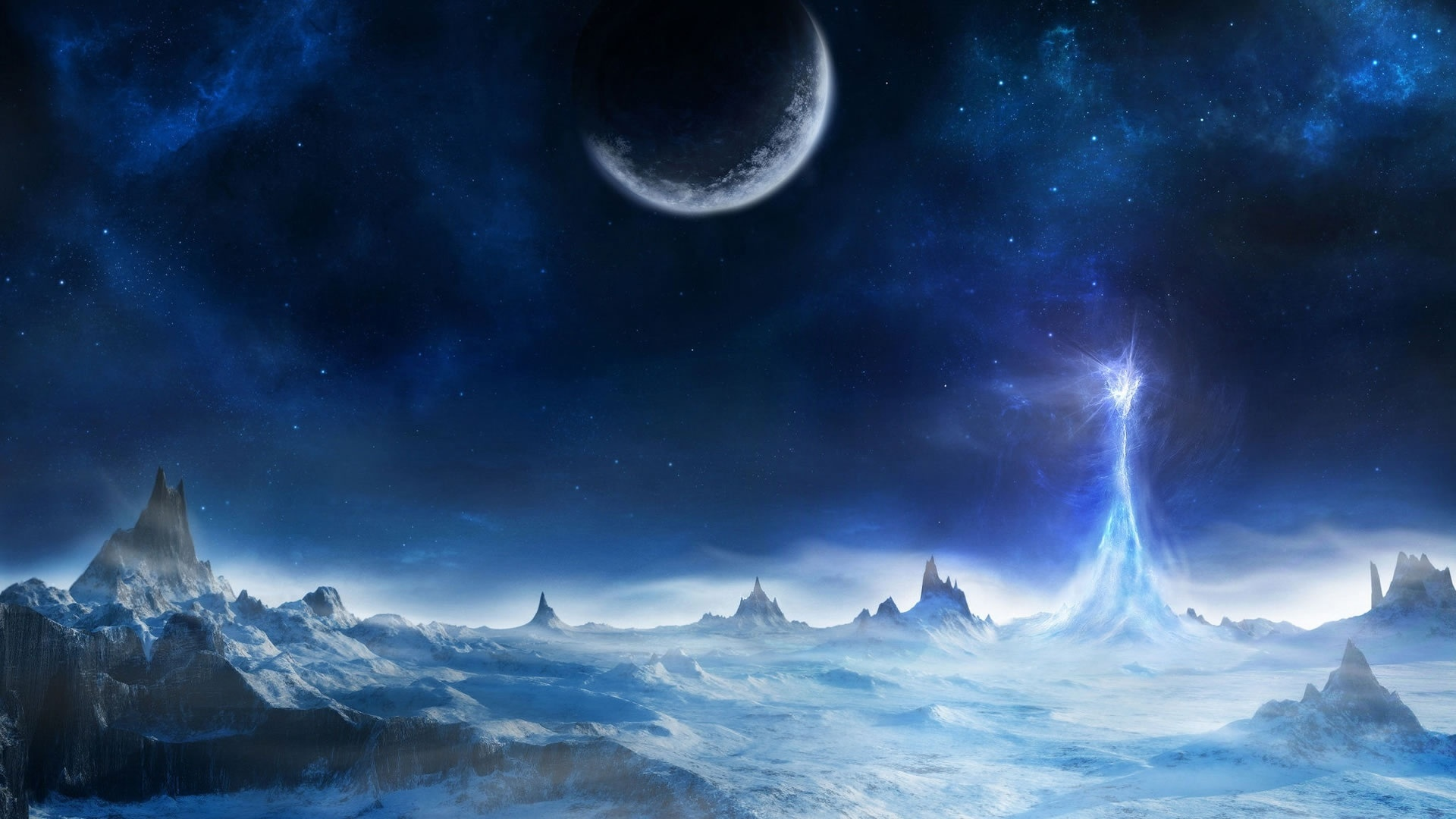 Fantasy Snow Landscape   Wallpaper High Definition High Quality 1920x1080