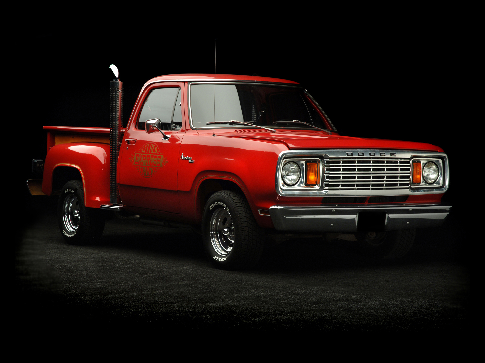 1978 Dodge Adventurer Lil Red Express Truck pickup hot rod rods 1920x1440