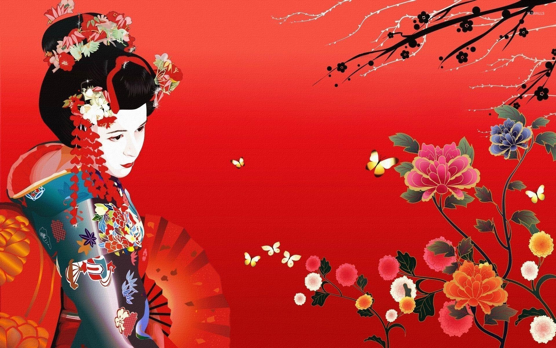 Geisha Wallpapers HD Backgrounds WallpapersIn4knet 1920x1200