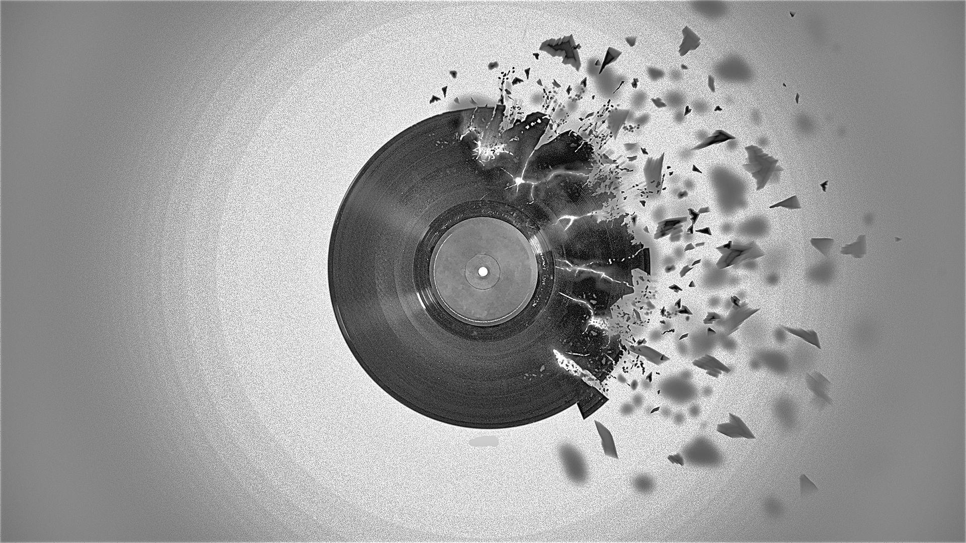 Broken Record Wallpaper 1920x1080 Broken Record Vinyl Shattered 1920x1080