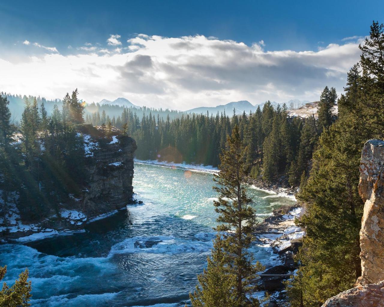 Gorgeous bow river in alberta canada HQ WALLPAPER 125279 1280x1024
