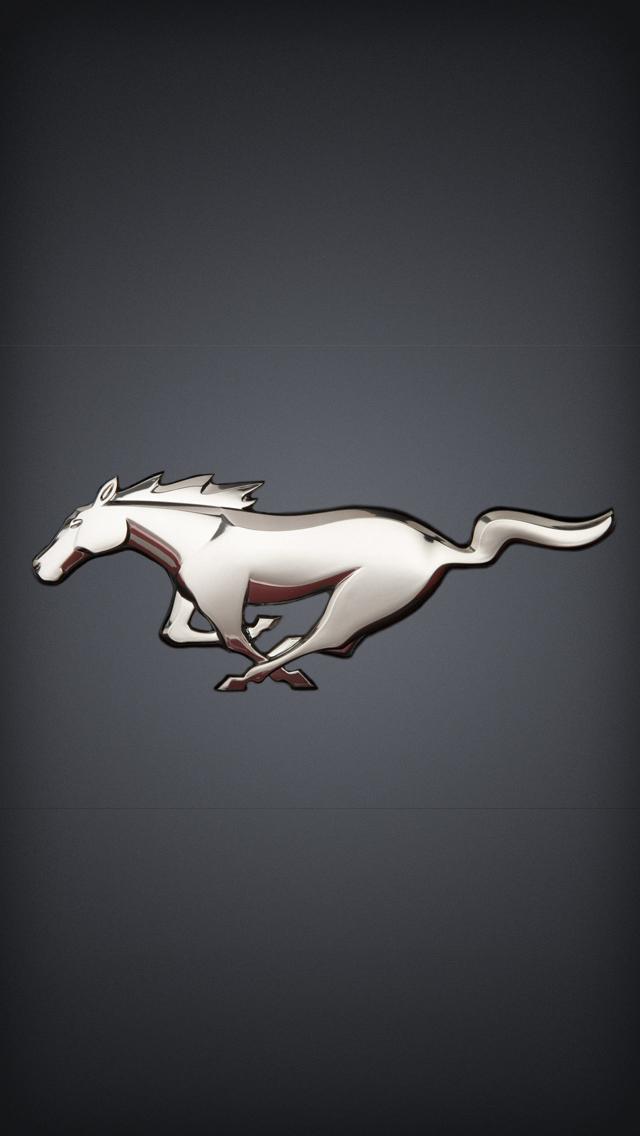 Mustang Logo Wallpaper Black 67 mustang iph 640x1136