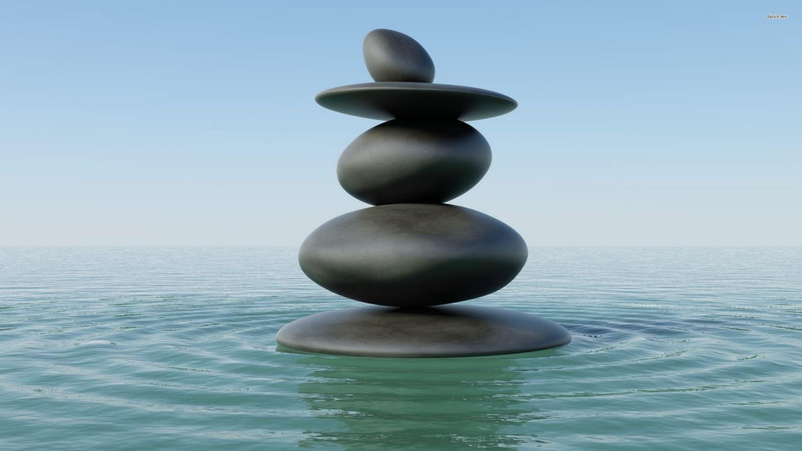 Zen stones in water wallpaper   Digital Art wallpapers   27660 2560x1440