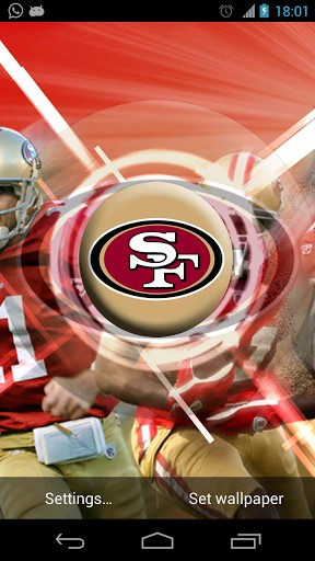 View bigger   San Francisco 49ers Wallpaper for Android screenshot 288x512