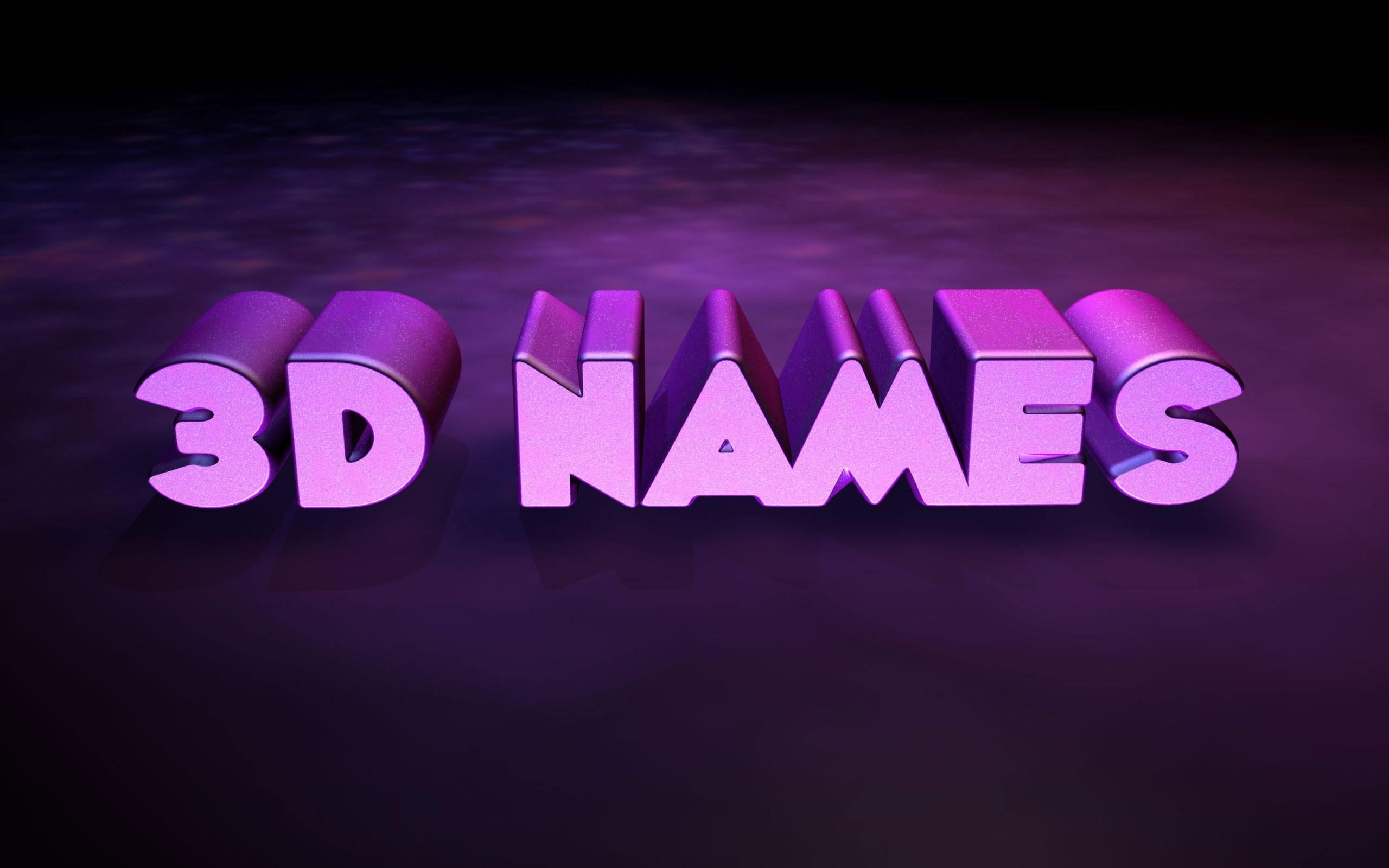 3D Names Wallpaper 52 images 2560x1600