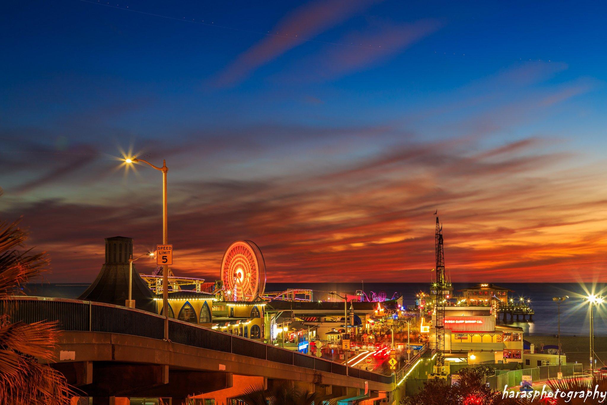Venice Beach California at Sunset HD Wallpaper Background Image 2048x1365