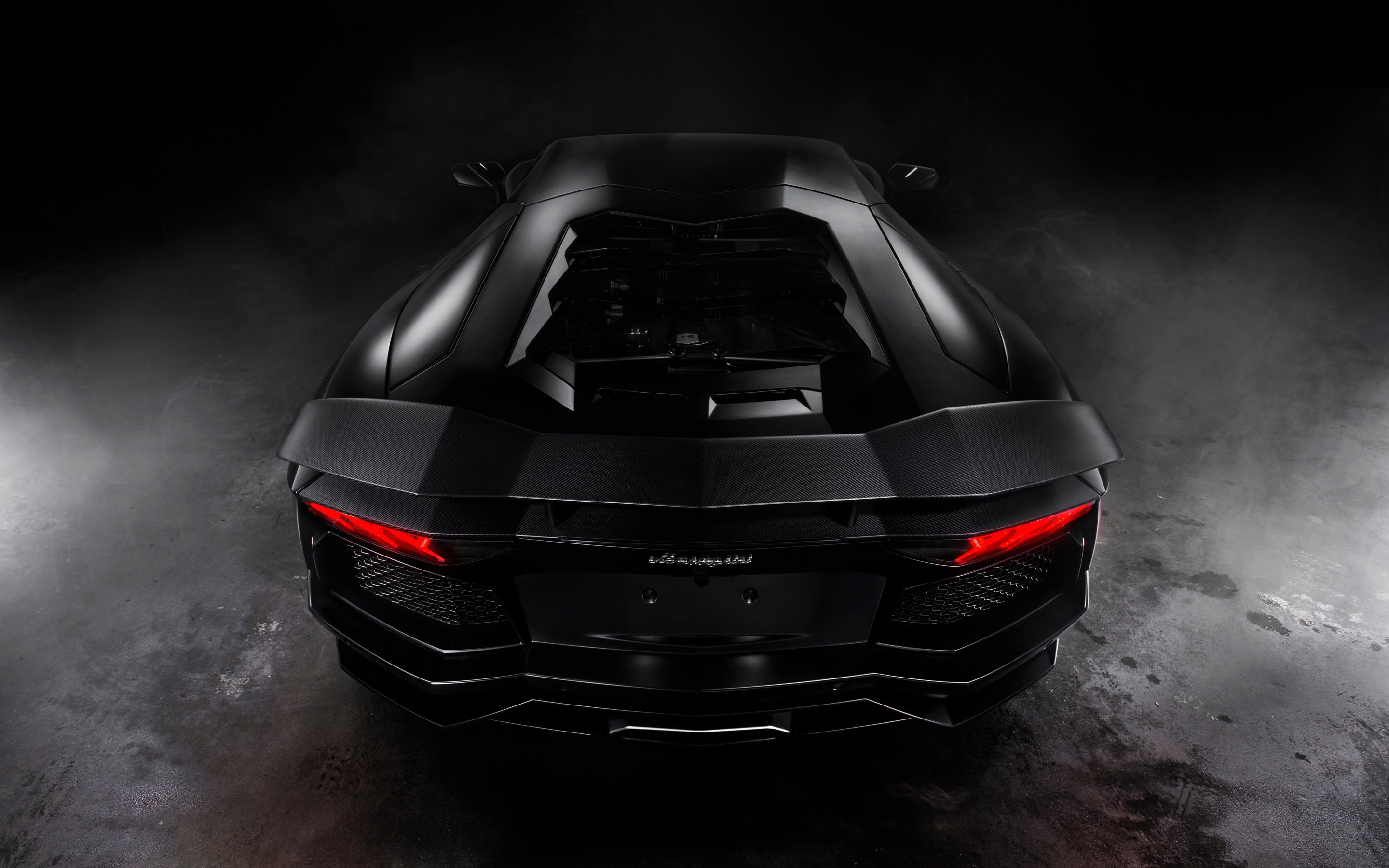 Lamborghini Aventador Matte Black HD Wallpaper 2880x1800