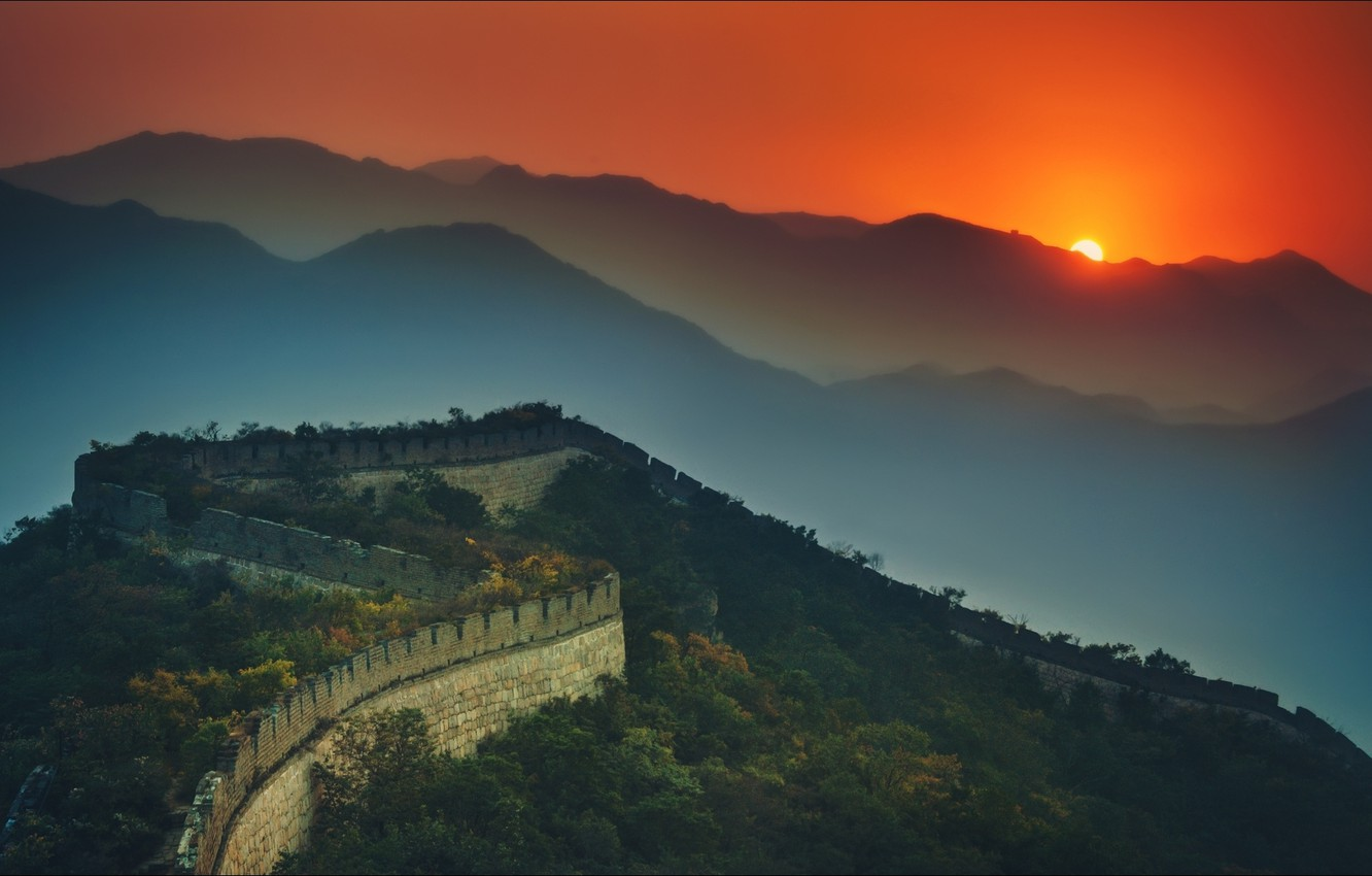 Wallpaper night wallpapers china great wall images for desktop 1332x850