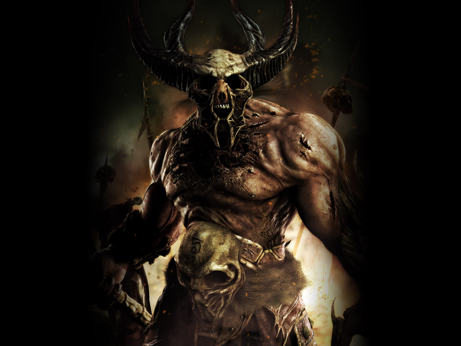 Demon wallpaper hd wallpapersafari - Devil skull wallpaper ...