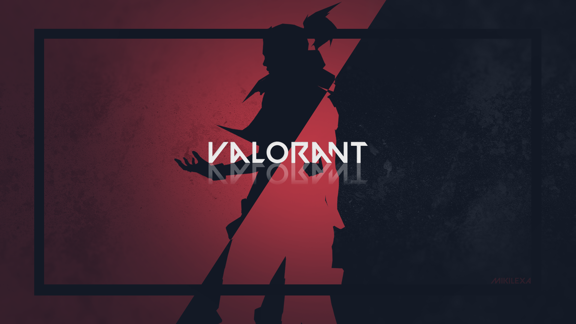 made this minimalistic valorant wallpaper what do u think VALORANT 1920x1080