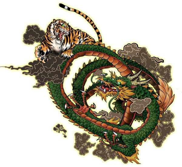 dragon vs tiger wallpaper image search results 600x550