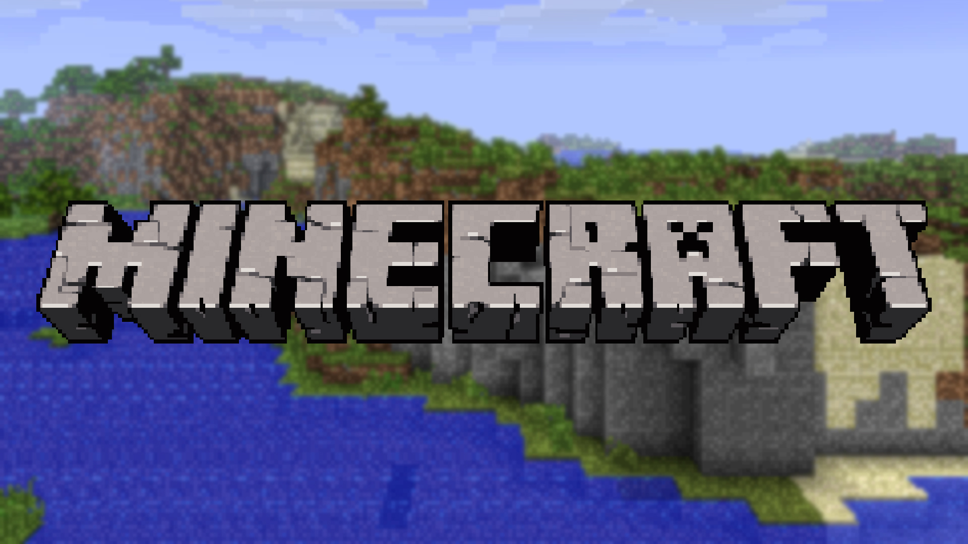 minecraft logo wallpaper by averagejoeftw fan art wallpaper games been 1920x1080