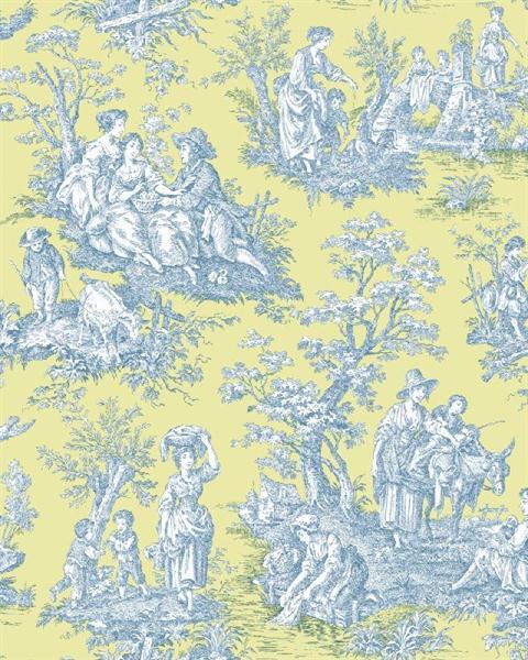 46+ Waverly Blue Toile Wallpaper on WallpaperSafari