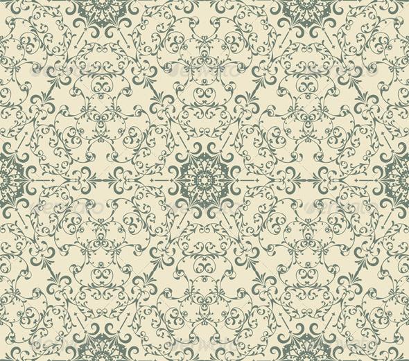 Vector Seamless Vintage Wallpaper Pattern   Patterns Decorative 590x521