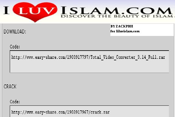 Video For I Luv Islam Graphics Code Total Video For I Luv Islam 574x384