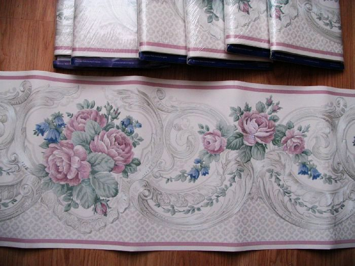 Wallpaper Border 7 Rolls Packages ROSE Pattern 10 12 in 1 700x525