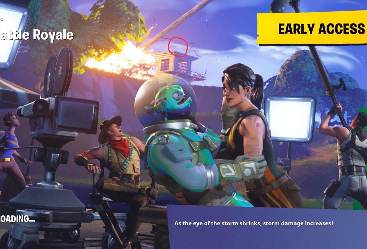 Fortnite Battle Royale    Season 4 Week 1 Battle Star Location 1280x868
